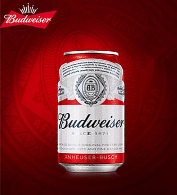 百威啤酒330ml罐裝
