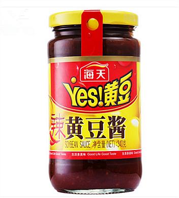 海天辣黃豆醬340g