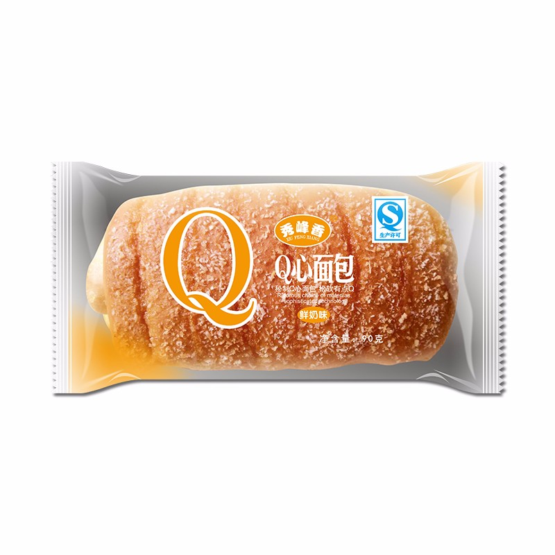 Q心面包(鮮奶味)